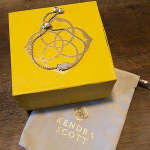 Kendra Scott white drusy bracelet